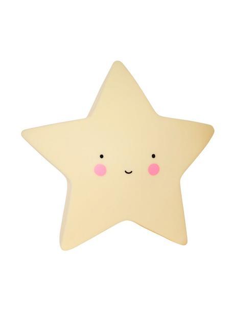 Kleines LED-Leuchtobjekt Star mit Timer, Kunststoff, Gelb, Schwarz, Rosa, 14 x 14 cm