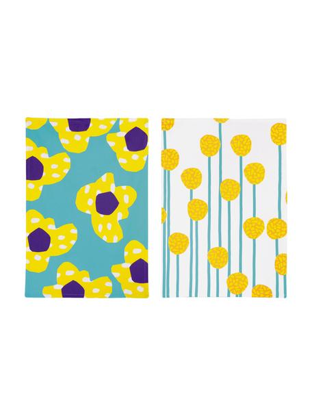 Geschirrtücher Flower, 2er-Set, 100% Baumwolle, Mehrfarbig, 50 x 70 cm