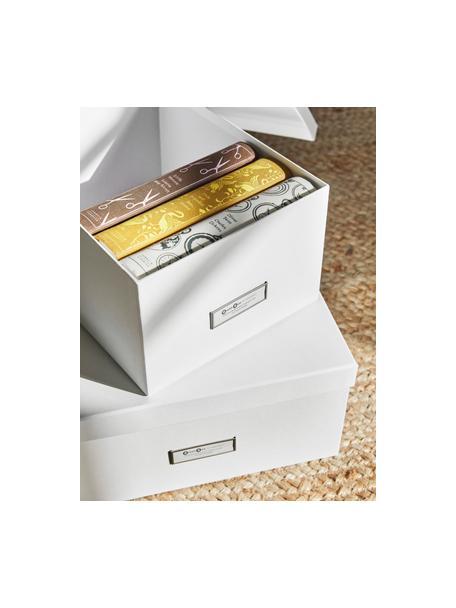 Set de cajas Inge, 3pzas., Caja: cartón laminado, Blanco, Set de diferentes tamaños
