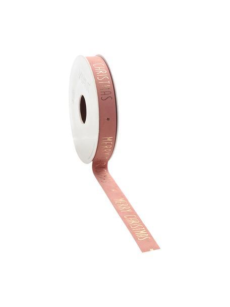 Nastro Vellu, 50% poliestere, 40% rayon, 10% adesivo, Rosa, dorato, Larg. 2 x Lung. 500 cm