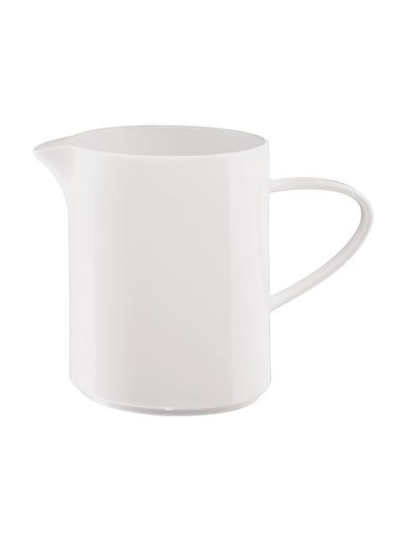 Lechera de porcelana Fine Bone China À Table, 400ml, Porcelana fina de hueso (porcelana) Fine Bone China es una pasta de porcelana fosfática que se caracteriza por su brillo radiante y translúcido., Blanco, Ø 6 x Al 11 cm