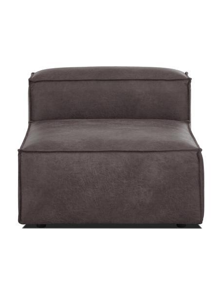 Módulo central sofá de cuero reciclado Lennon, Tapizado: cuero reciclado (70%cuer, Estructura: madera de pino maciza, ma, Patas: plástico Las patas están , Cuero gris topo, An 89 x F 119 cm