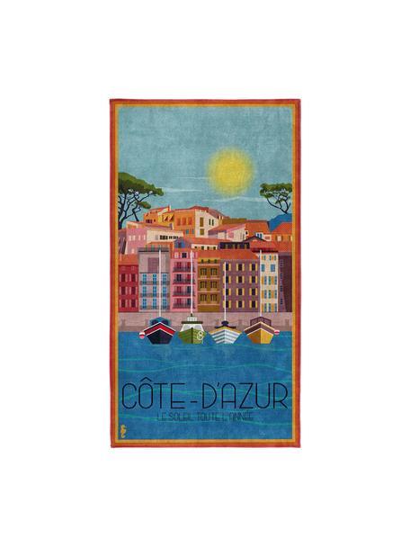 Toalla de playa Riviera, Multicolor, An 90 x L 170 cm