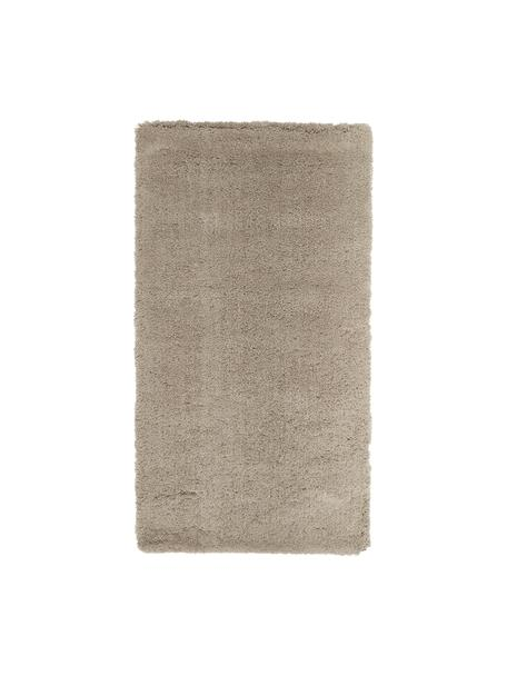 Alfombra mullida de pelo largo Leighton, Parte superior: microfibra (100%poliéste, Reverso: 70%poliéster, 30%algodó, Beige, An 80 x L 150 cm (Tamaño XS)