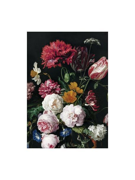 Papel pintado Golden Age Flowers, Tejido no tejido, ecológica y biodegradable, Multicolor mate, An 196 x Al 280 cm