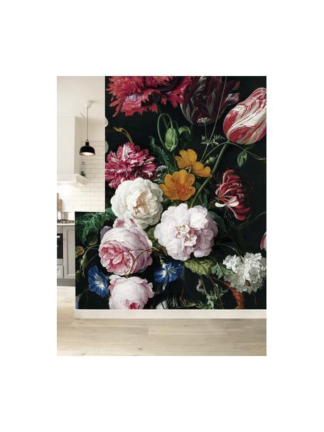 Carta da parati Golden Age Flowers, Pelo ecologico e biodegradabile, Multicolore opaco, Larg. 196 x Alt. 280 cm