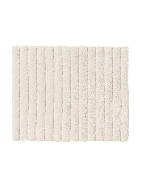 Flauschiger Badvorleger Board in Cremeweiß, Baumwolle, schwere Qualität, 1900 g/m², Cremeweiß, 50 x 60 cm