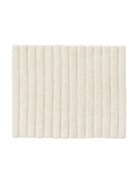 Flauschiger Badvorleger Board, Baumwolle, schwere Qualität, 1900 g/m², Cremeweiß, 50 x 60 cm