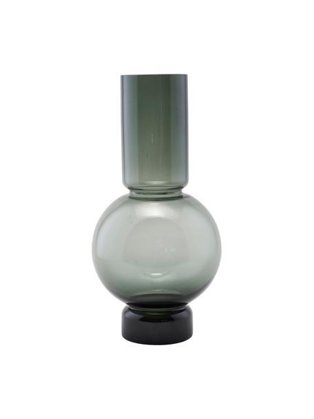Glas-Vase Bubble, Glas, Grau, transparent, Ø 18 x H 35 cm