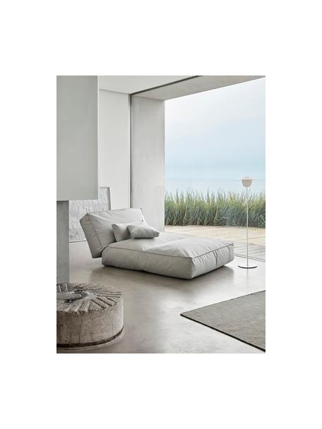 Mobiele outdoor LED lamp Ani, Lampenkap: aluminium, Lampvoet: gecoat aluminium, Wit, Ø 34 x H 121 cm