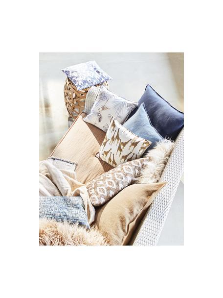 Funda de cojín Sahara, 100%algodón, Blanco, marrón, azul claro, An 40 x L 40 cm