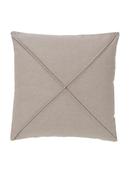Poszewka na poduszkę Darla, 55% len, 45% bawełna, Beżowy, S 45 x D 45 cm