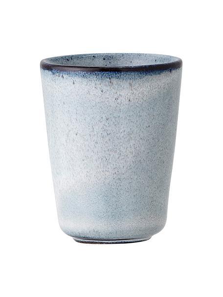 Handgemaakte keramische eierdopjes Sandrine, 2 stuks, Keramiek, Blauwtinten, Ø 5 x H 7 cm