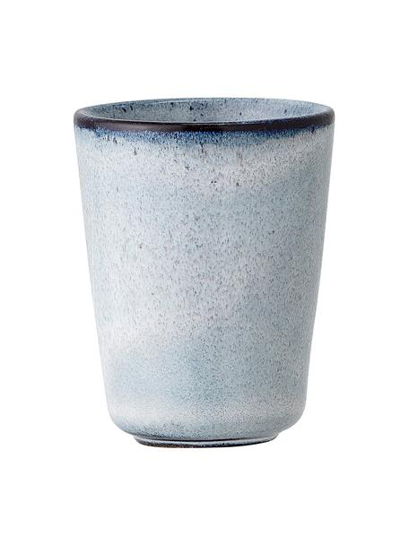 Portauovo in gres blu fatto a mano Sandrine 2 pz, Gres, Tonalità blu, Ø 5 x Alt. 7 cm