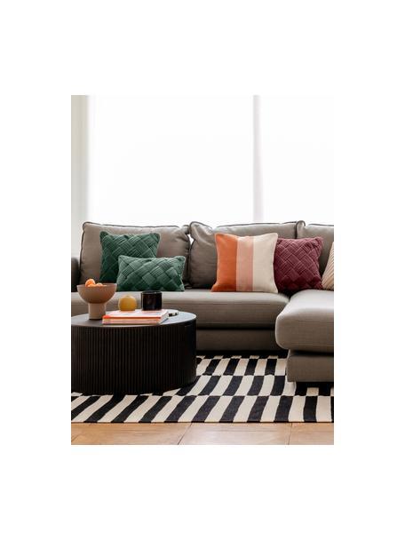 Poszewka na poduszkę z aksamitu Sina, Aksamit (100% bawełna), Zielony, S 45 x D 45 cm
