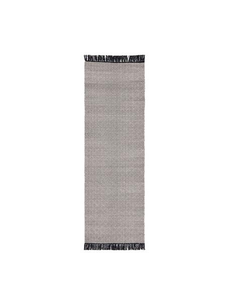 Alfombra Todos, 40%algodón, 30%lana, 30%poliéster, Greige, An 80 x L 250 cm