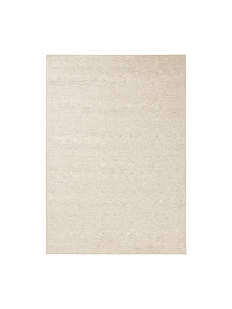 Rond vloerkleed Lyon met lussenpool, Bovenzijde: 100% polypropyleen, Onderzijde: vlies, Gemengd crèmekleurig, 100 x 140 cm