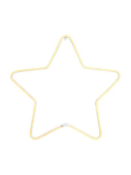 Estrella luminosa LED Montana, Metal pintado, Blanco, Ø 50 cm