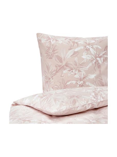 Pościel z bawełny Shanida, Blady różowy, 135 x 200 cm + 1 poduszka 80 x 80 cm