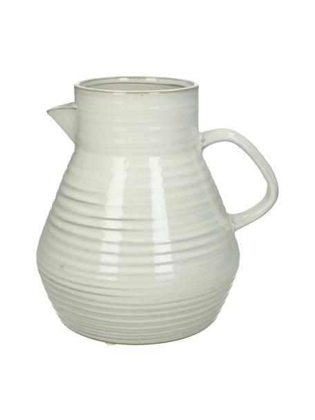 Brocca-vaso in gres Pitcher, Gres, Bianco spezzato, beige, Larg. 20 x Alt. 20 cm