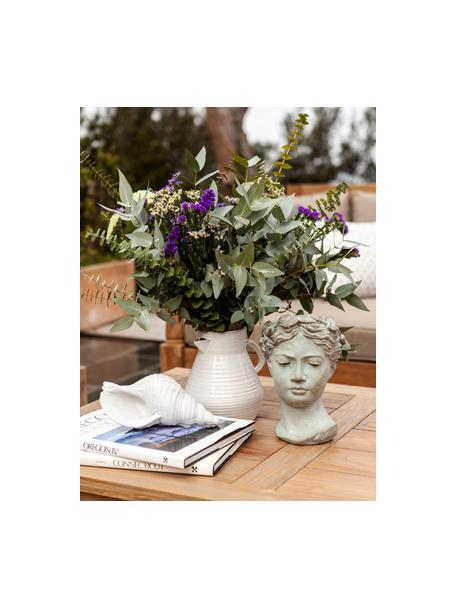 Krug-Vase Pitcher aus Steingut, Steingut, Gebrochenes Weiss, Beige, 20 x 20 cm