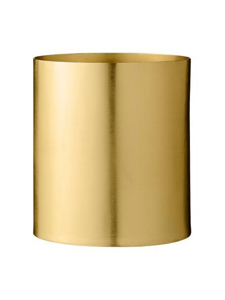 Portavaso rotondo in metallo Sharin, Metallo, Ottone, Ø 13 x A lt.14 cm