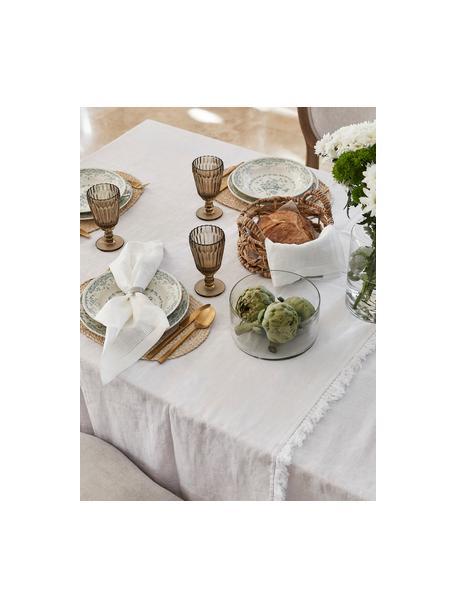 Geschirr-Set Rose mit Blumendesign in Türkis, 6 Personen (18-tlg.), Keramik, Weiss, Türkis, Set mit verschiedenen Grössen