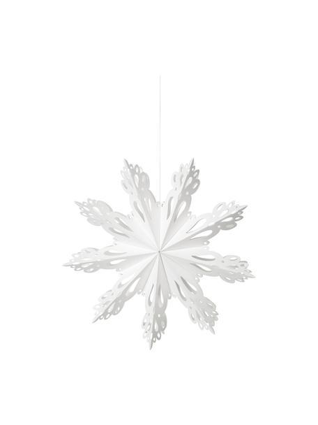 Adorno para colgar copo de nieve Snowflake, Papel, Blanco, Ø 30 cm