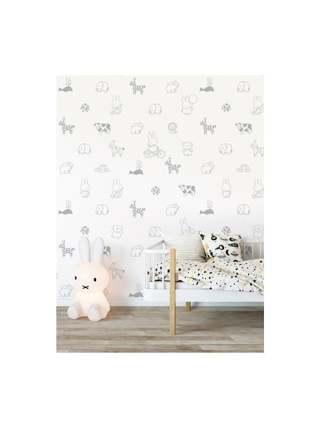 Tapete Miffy, Papier, matt, 165 g/m², Weiss, Grau, B 97 x H 280