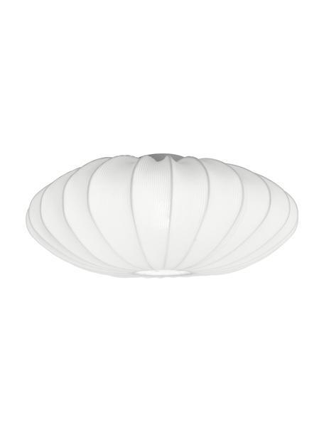 Deckenleuchte Mamsell aus Stoff, Lampenschirm: 60 % Polyester, 40 % Rayo, Baldachin: Metall, Weiß, Ø 65 x H 27 cm