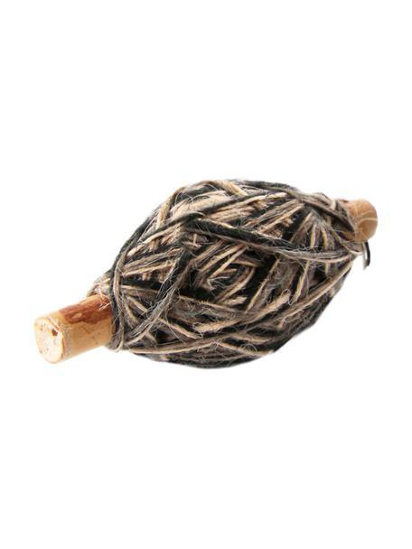 Geschenkdraad Flaxcord, Jute, Lichtbruin, grijs, zwart, L 50 cm