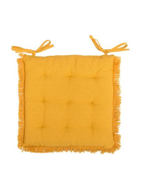 Poduszka na siedzisko Prague, Słoneczny żółty, S 40 x D 40 cm