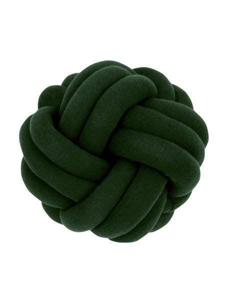 Cojín nudo Twist, Verde oscuro, Ø 30 cm