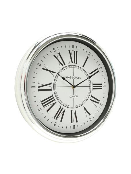 Zegar ścienny Kendra, Tworzywo sztuczne, Odcienie srebrnego, Ø 40 cm