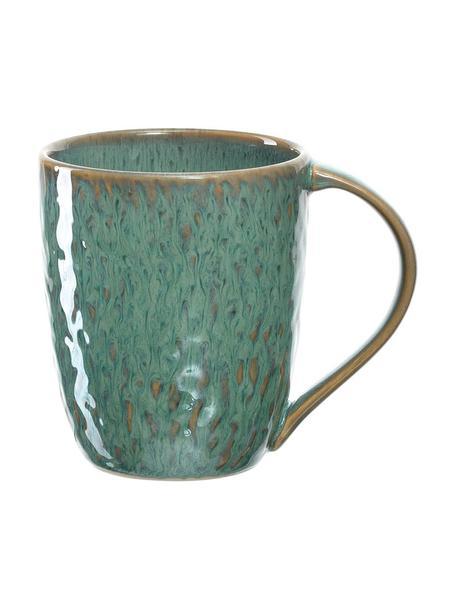 Tasse Matera in Grün mit Farbverlauf und Unebenheiten, 6 Stück, Keramik, Grün, Ø 9 x H 11 cm