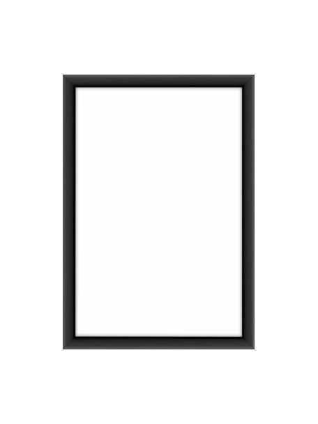 Cornice nera opaca Accent, Cornice: alluminio rivestito, Retro: Pannello di fibra a media, Nero, 10 x 15 cm