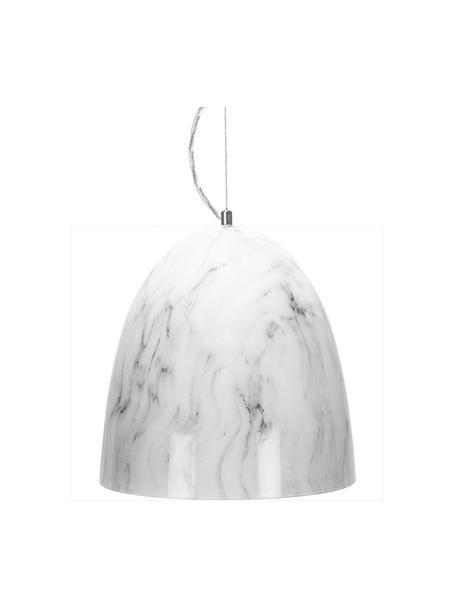 Lámpara de techo pequeña Leon, Pantalla: metal, laminado, Cable: plástico, Mármol blanco, Ø 30 x Al 35 cm