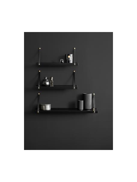 Estante de pared de metal Shelfie, Estante: metal, con pintura en pol, Negro, An 75 x Al 23 cm