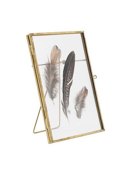 Fotolijstje Pioro, Frame: gecoat metaal, Messingkleurig, transparant, 13 x 18 cm