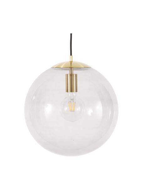 Lámpara de techo Bao, Pantalla: vidrio, Anclaje: metal galvanizado, Cable: cubierto en tela, Azul, Ø 35  cm