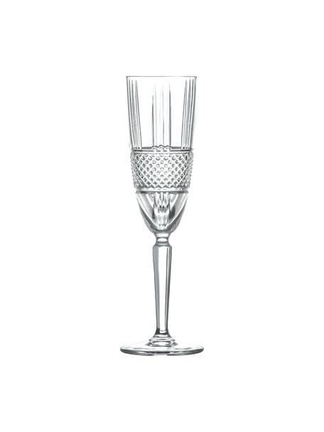 Copas flauta de champán de cristal Brillante, 6uds., Cristal, Transparente, Ø 6 x 23 cm