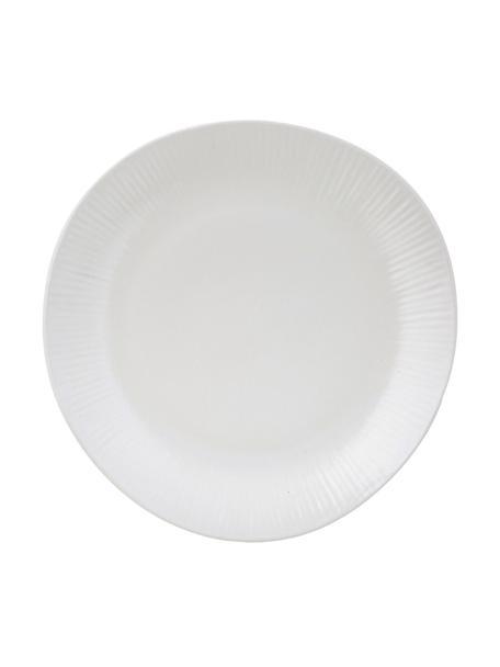 Piatto piano fatto a mano Sandvig 4 pz, Porcellana, tinta, Bianco latteo, Ø 27 cm