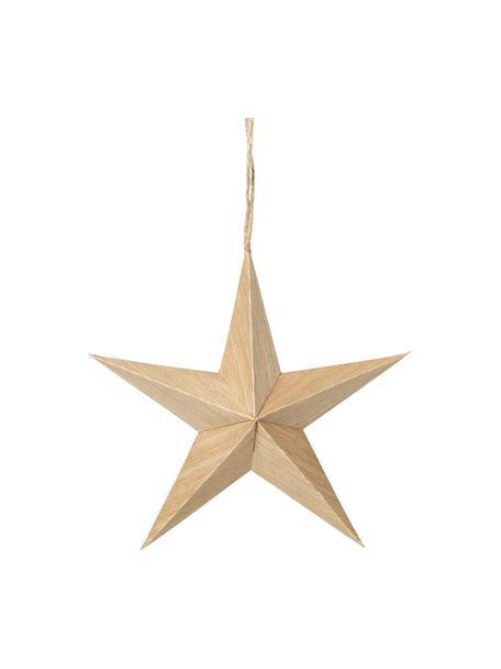 Ciondolo a stella Venice 2 pz, Ø15 cm, Legno di pioppo, Beige, Ø 15 x Prof. 5 cm