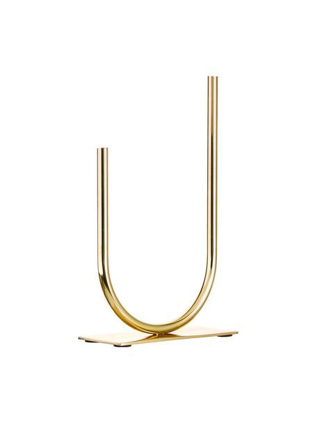 Vaso decorativo in metallo Circle U, Metallo, Dorato, Larg. 19 x Alt. 30 cm