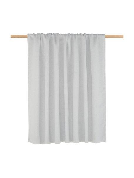 Manta de tejido polar Sylt, Gris claro, An 140 x L 200 cm