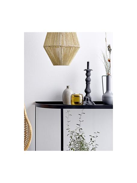 Kandelaar Renado, Gecoat aluminium, Zwart, Ø 10 x H 30 cm