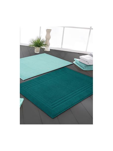 Badmat Gentle, 100% katoen, Smaragdgroen, 50 x 80 cm
