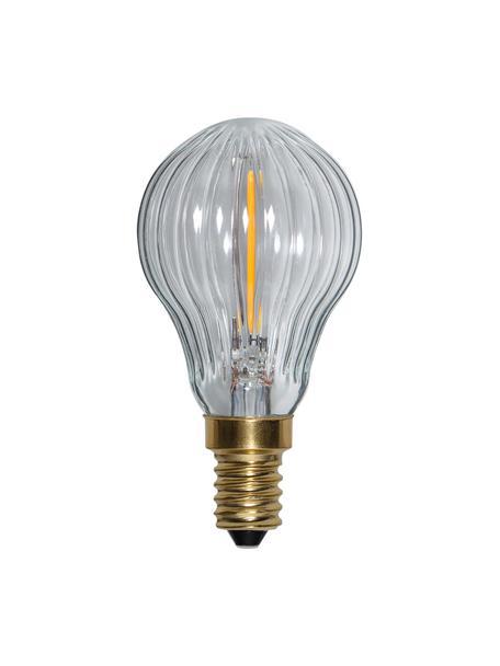 E14 peertje, 0.8 watt, dimbaar, warmwit, 1 stuk, Peertje: glas, Fitting: aluminium, Transparant, Ø 5 x H 9 cm