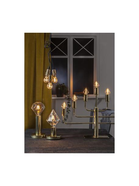 E14 Leuchtmittel, 0.8W, dimmbar, warmweiss, 1 Stück, Leuchtmittelschirm: Glas, Leuchtmittelfassung: Aluminium, Transparent, Ø 5 x H 9 cm