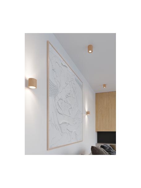 Kinkiet z drewna naturalnego Roda, Jasny brązowy, S 10 x W 10 cm